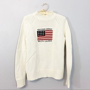 Ralph Lauren Polo Jeans Vintage Flag Sweater